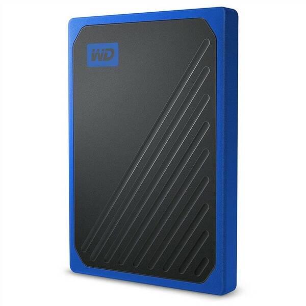 SSD externí Western Digital My Passport Go 512GB (WDBMCG5000ABT-WESN) modrý