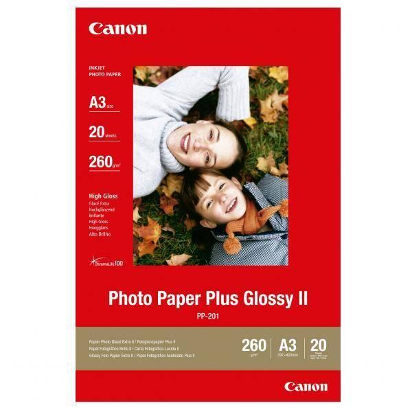 Papiere do tlačiarne Canon PP201 A4, 20 listů (2311B020) biely