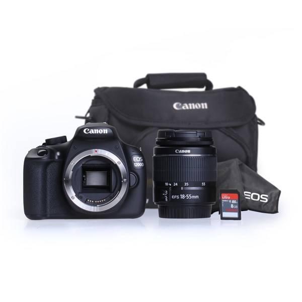 Digitálny fotoaparát Canon EOS 1200D černý + 18-55 DC + 8GB čierny