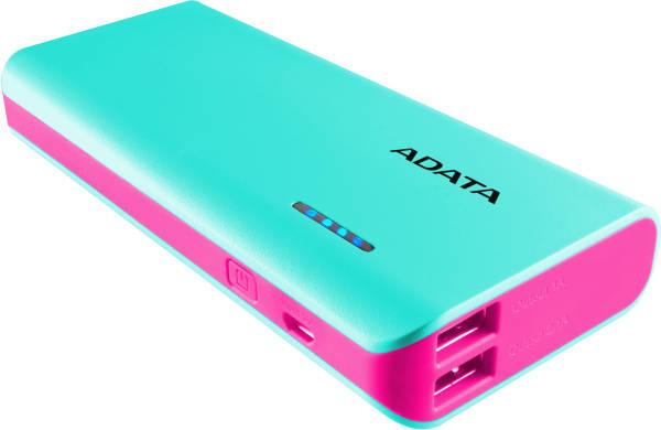 Power Bank ADATA PT100 10000mAh (APT100-10000M-5V-CTBPK) modrá/ružová