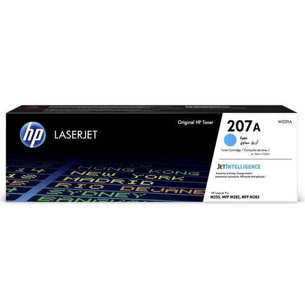 Toner HP 207A, 1250 stran (W2211A) modrý