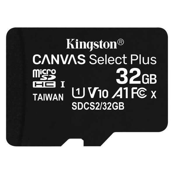 Paměťová karta Kingston Canvas Select Plus MicroSDHC 32GB UHS-I U1 (100R/10W) (SDCS2/32GBSP)