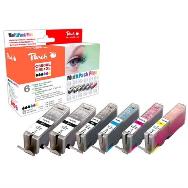 Cartridge Peach Canon PGI-550 / CLI-551 MultiPack, CMYK,  kompatibilní (316838)
