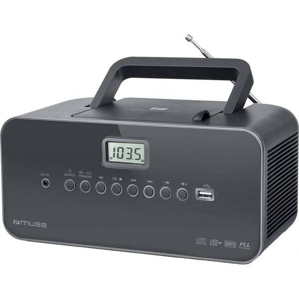 Radiopřijímač s CD MUSE M-28DG šedý
