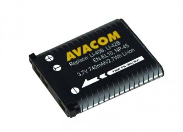 Batéria Avacom Olympus Li-40B/Li-42B/Fujifilm NP-45/Nikon EN-EL10 Li-ion 3,7V 740mAh (DIOL-LI40-AVA)