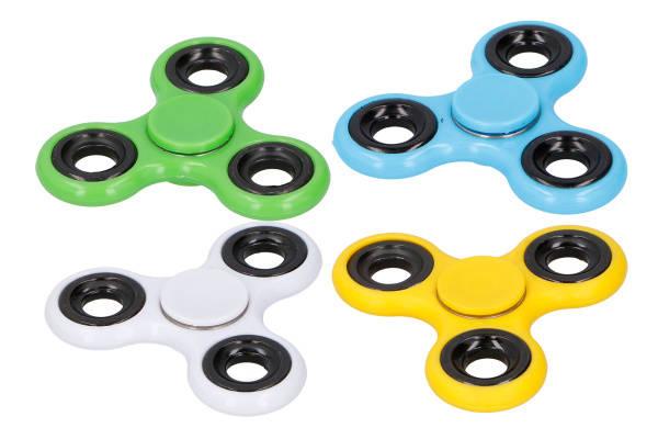 Fidget spinner Befree 4 barevné varianty (modrá, bílá, žlutá, zelená) (BF-06995)