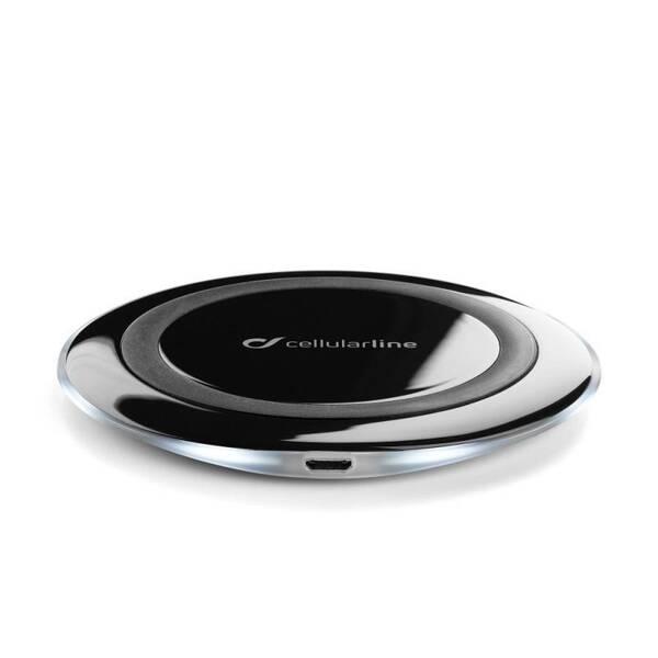 Bezdrátová nabíječka CellularLine WirelessPad, standard Qi černá