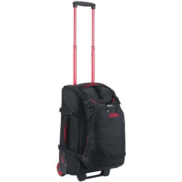 Cestovní kufr na kolečkách Coleman ON THE ROAD 40 (černá), 3370 g, včetně integrovaného 10L batůžku, který lze použít i samostatně