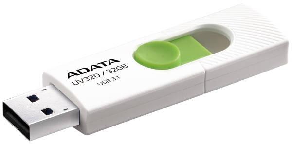 USB Flash ADATA UV320 32GB (AUV320-32G-RWHGN) bílý/zelený