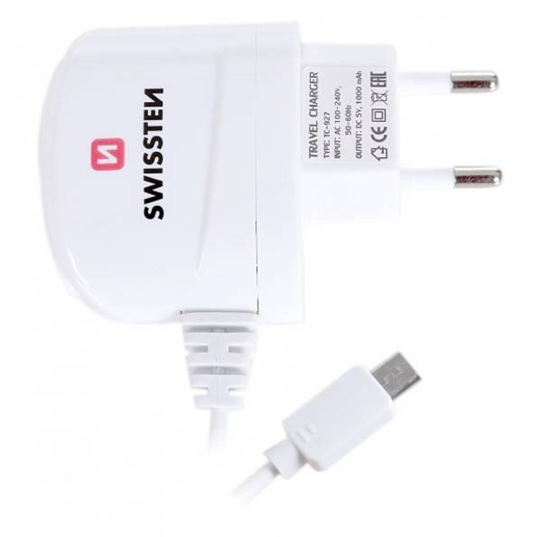 Nabíjačka do siete Swissten Micro USB 1A biela