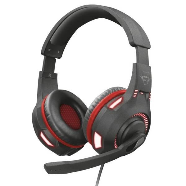 Headset Trust GXT 407 Ravu Illuminated (23372) černý (vrácené zboží 8800772951)