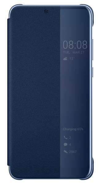 Pouzdro na mobil flipové Huawei Original Smart View pro P20 (51992359) modré (poškozený obal 8800363650)