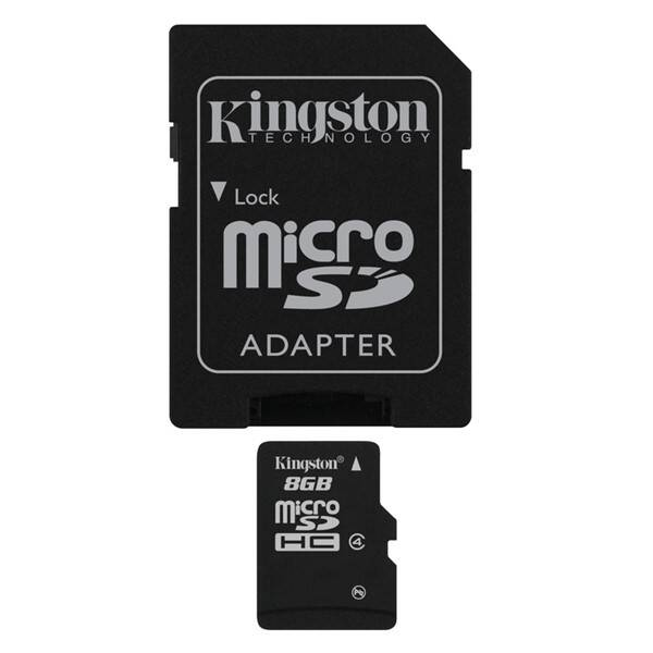 Pamäťová karta Kingston MicroSDHC 8GB Class4 + adapter (SDC4/8GB)