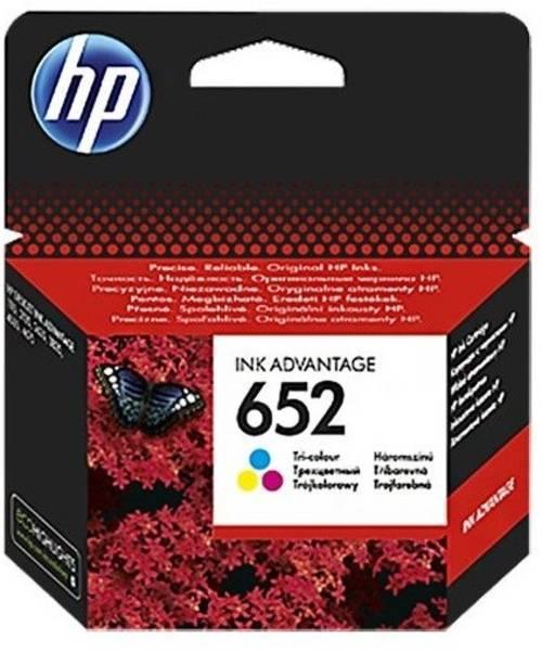 Inkoustová náplň HP 652, F6V24AE, 200 stran, CMY (F6V24AE)