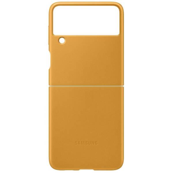 Kryt na mobil Samsung Leather Cover Galaxy Z Flip3 (EF-VF711LYEGWW) hnedý