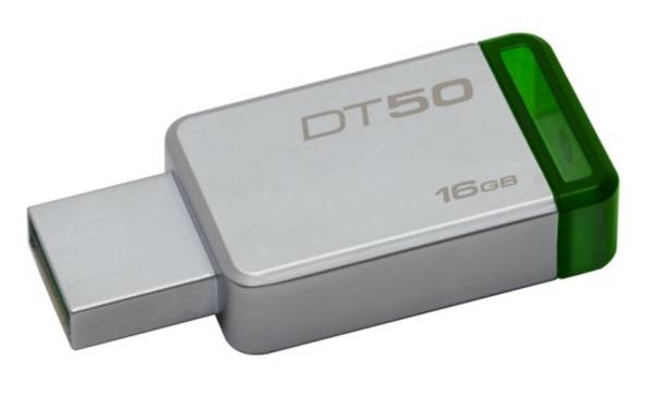 USB flash disk Kingston DataTraveler 50 16GB (DT50/16GB) zelený/kovový