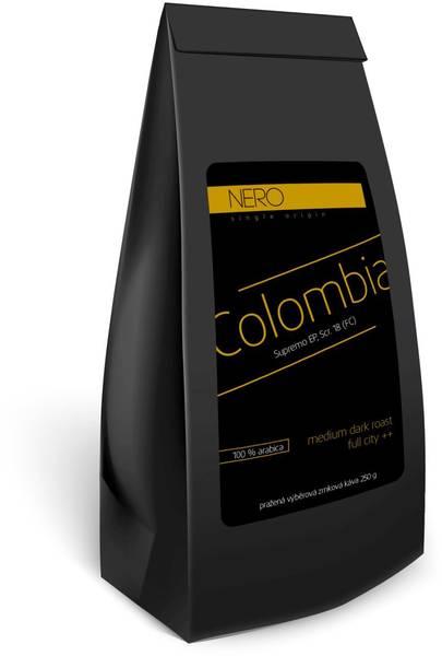 Káva zrnková Nero Caffé Kolumbia Supremo, 250 g (407719)