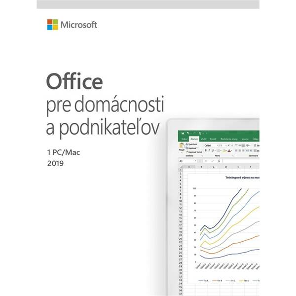 Software Microsoft Office 2019 pre domácnosti a podnikatelov SK (T5D-03231)