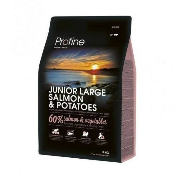 Granule PROFINE Junior Large Breed Salmon & Potatoes 3kg