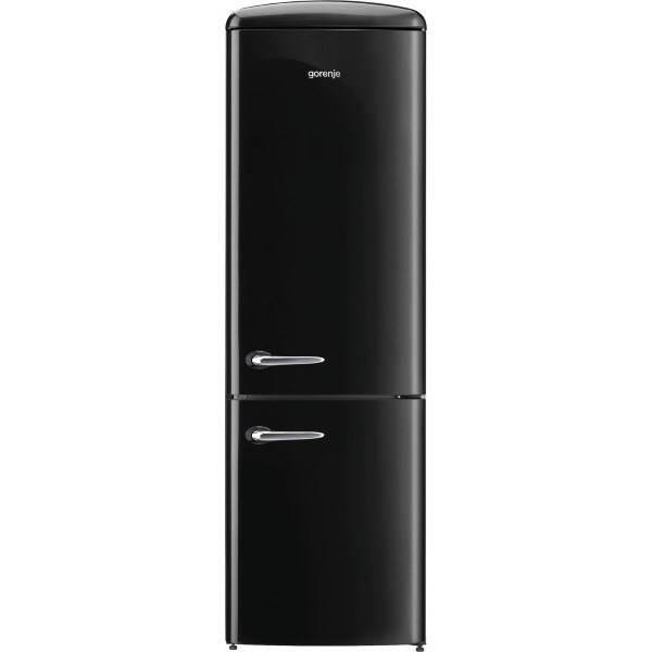 Chladnička s mrazničkou Gorenje Retro ORK192BK černá
