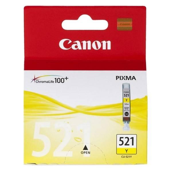 Inkoustová náplň Canon CLI-521Y, 530 stran - originální (2936B001) žlutá
