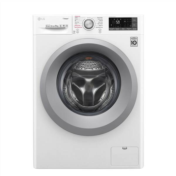 Pračka LG F4TURBO9S stříbrná barva/bílá barva