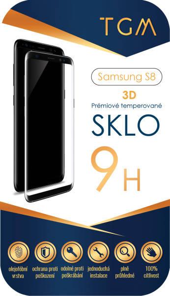 Ochranné sklo TGM 3D pro Samsung Galaxy S8 (TGM-SM-S8) černé (vrácené zboží 8800004387)