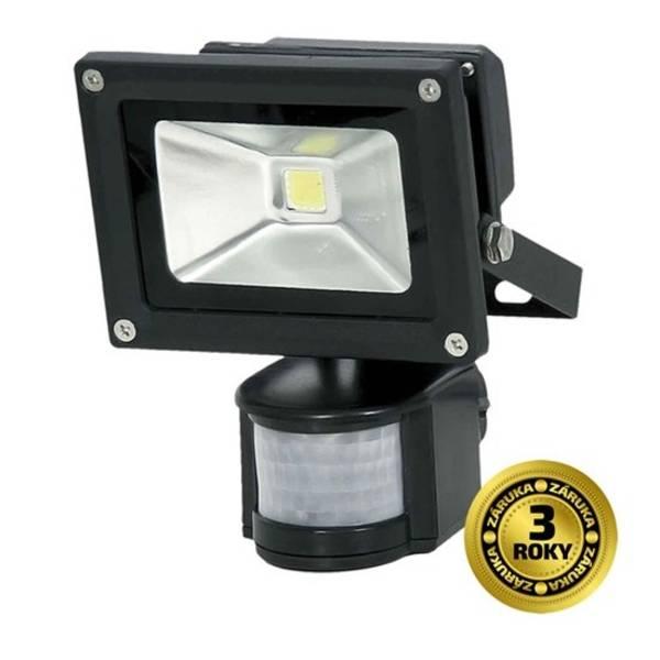LED reflektor Solight 10W, studená bílá, 700lm, se senzorem (WM-10WS-E) černý