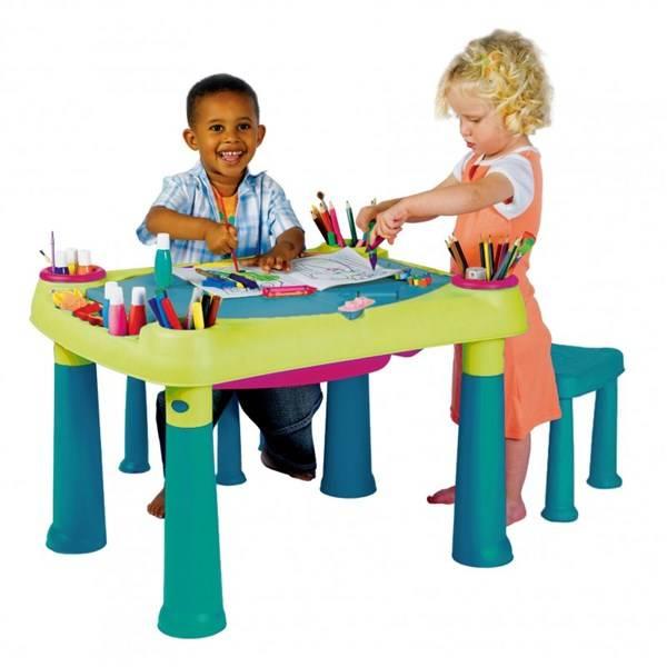 Dětský stoleček Keter Creative Play modrý