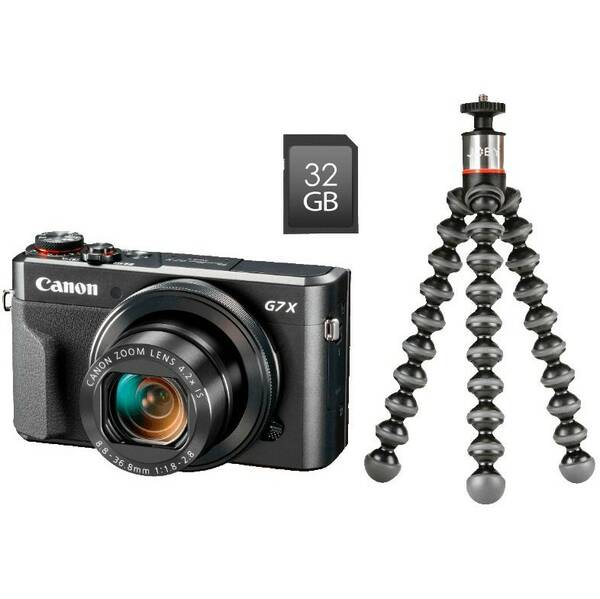 Digitálny fotoaparát Canon PowerShot G7X Mark II Vlogger Kit (1066C037) čierny