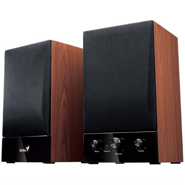 Reproduktory Genius SP-HF 1250B 2.0, Verze II. (31730011400) černé/imitace dřeva