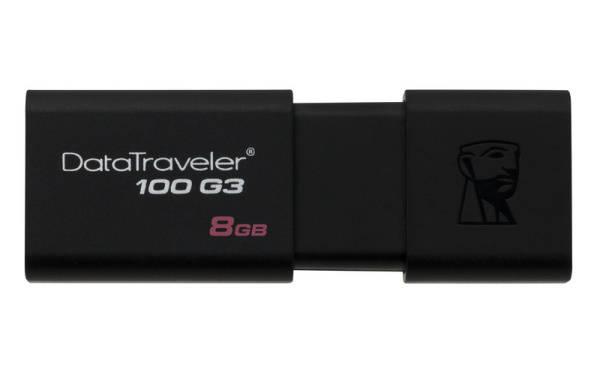 USB flash disk Kingston DataTraveler 100 G3 8GB (DT100G3/8GB) čierny