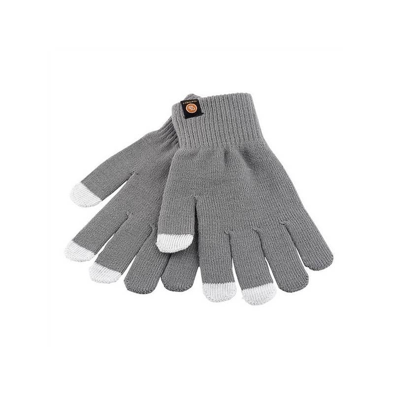Rukavice GoGEN pro dotykové displeje velikost M (GOGRUKAVICEMG) šedá barva
