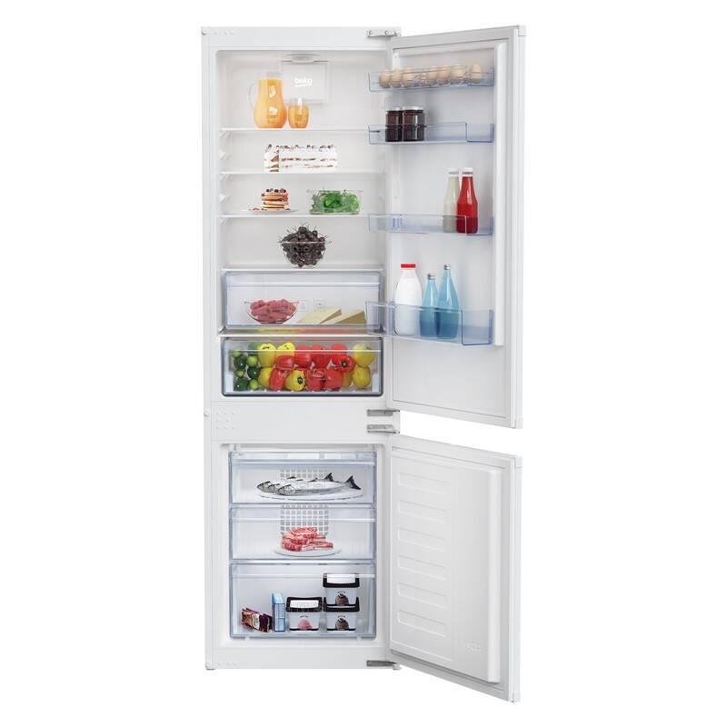 Kombinácia chladničky s mrazničkou Beko BCSA285K3S + Doprava zadarmo