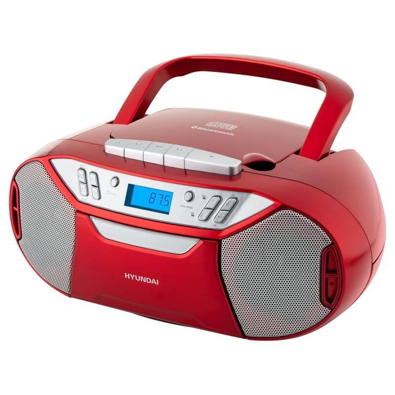 Rádiomagnetofón s CD Hyundai TRC 333 AU3BTR červený + Doprava zadarmo