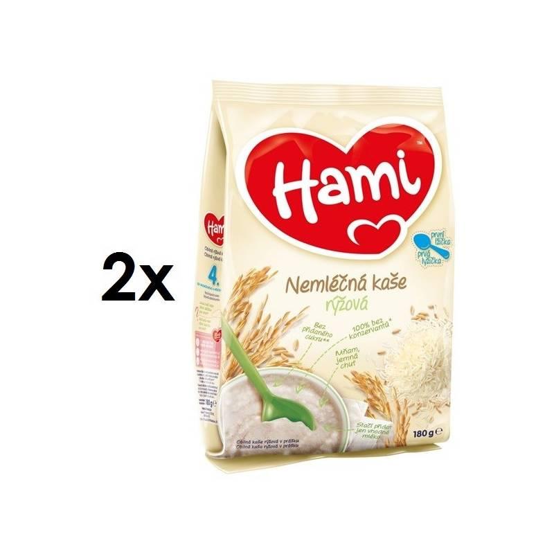 Nemliečna kaša Hami rýžová 4M, 180g x 2ks