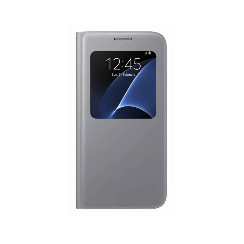 Púzdro na mobil flipové Samsung S-View na Galaxy S7 (EF-CG930P) (EF-CG930PSEGWW) strieborné