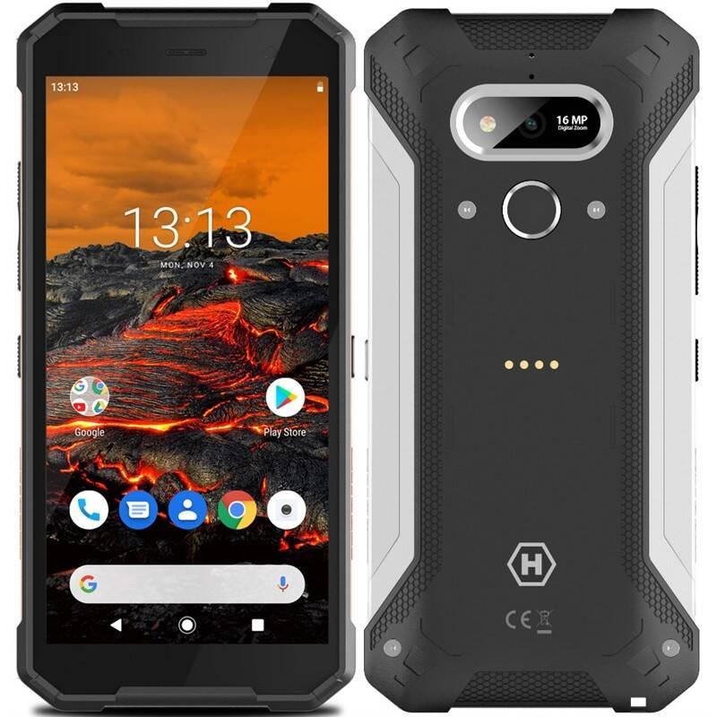 Mobilný telefón myPhone Hammer Explorer (TELMYAHEXPLOSI) čierny/strieborný