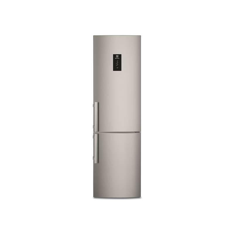 Kombinácia chladničky s mrazničkou Electrolux EN3455MFX sivá/nerez + Doprava zadarmo