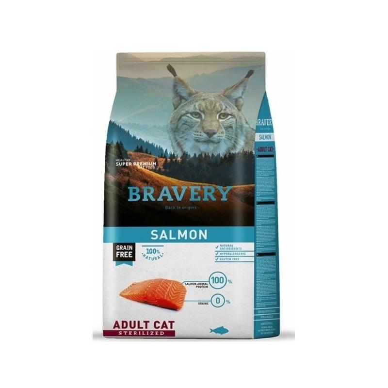 Granule Bravery cat STERILIZED salmon 2kg