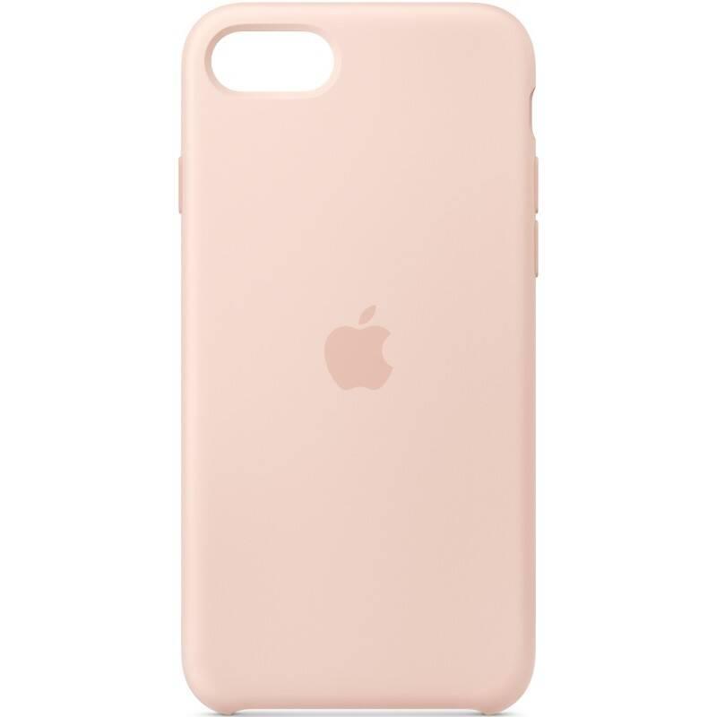 Kryt na mobil Apple Silicone Case pre iPhone SE (2020) - pieskovo ružový (MXYK2ZM/A)