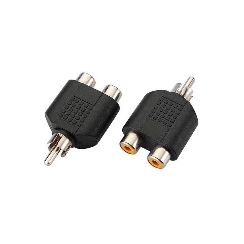 Adaptér AQ 1x RCA (cinch) samec - 2x RCA (cinch) samice (xaqcaa405)
