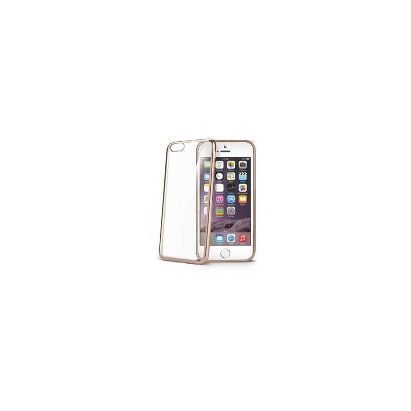 Puzdro na mobil flipové Celly Laser pro Apple iPhone 6/6S (BCLIP6SGD) zlaté
