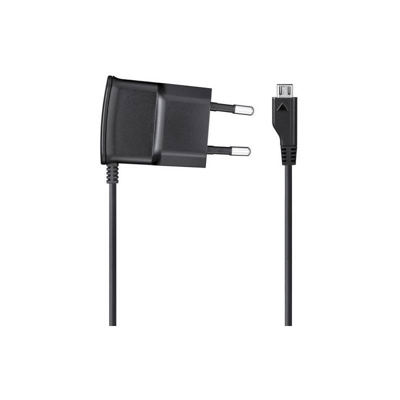 Nabíjačka do siete Samsung ETA-0U10EBE, MicroUSB, 0,7A (bulk) (ETA-0U10EBE) čierna