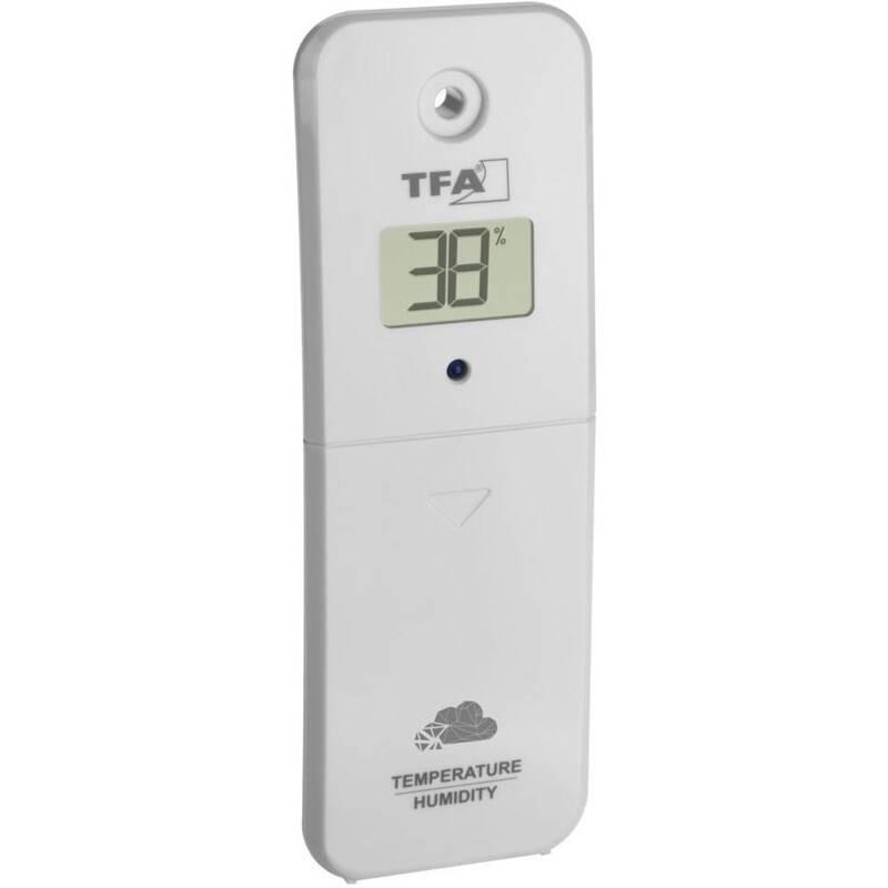 Čidlo pre meteostanice TFA TFA 30.3800.02 pre VIEW - teplota, vlhkosť sivý/biely