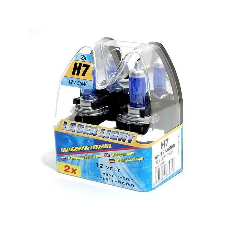 Autožárovka Compass 12 V H7 55W WHITE LASER 2 ks