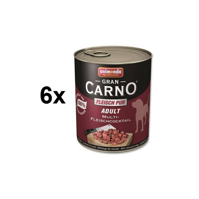 Konzerva Animonda Adult Gran Carno mäsová zmes 6 x 800g