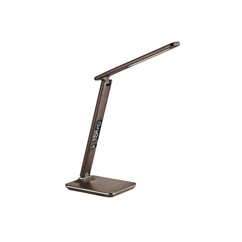 Stolná lampa Solight WO45-H s displejem, volba teploty světla, 9W (WO45-H) hnedá + Doprava zadarmo