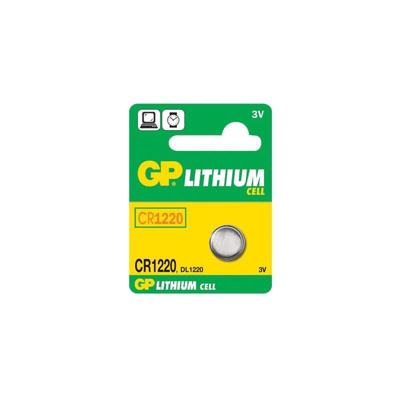 Batéria lítiová GP CR1220 LITHI, 3V, 35mAh (GP CR1220)