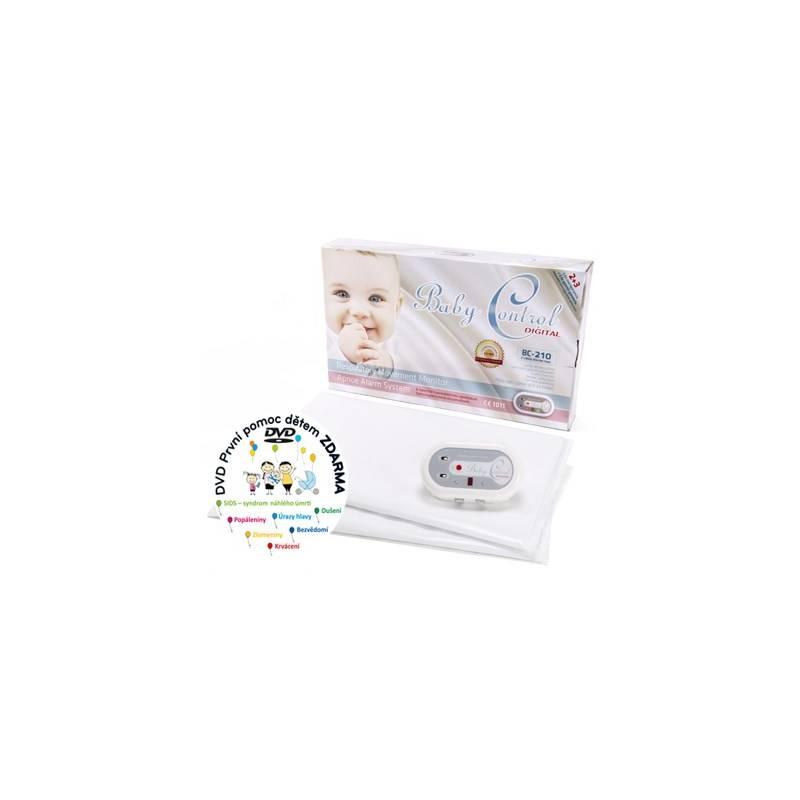 Monitor dychu Baby Control BC-210, dvě senzorové podložky biela Mléčná kaše Nutrilon Pronutra krupicová s ovocem, 225g (zdarma)
